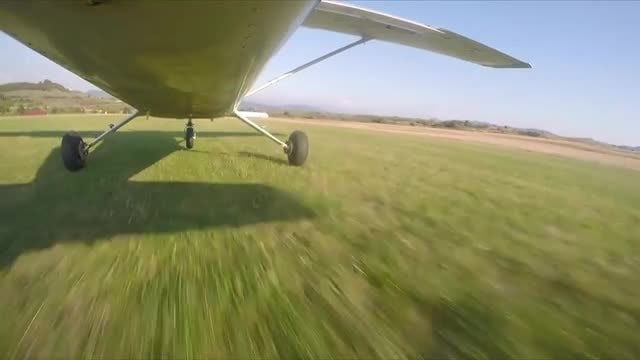 Light-sport Airplane Taking Off: Stock Video