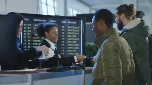 Smiling Female Airport Security Agents: Stock Video