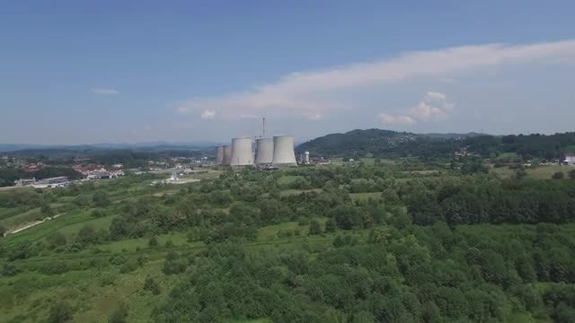 Thermal Power Plant In Forest: Stock Video