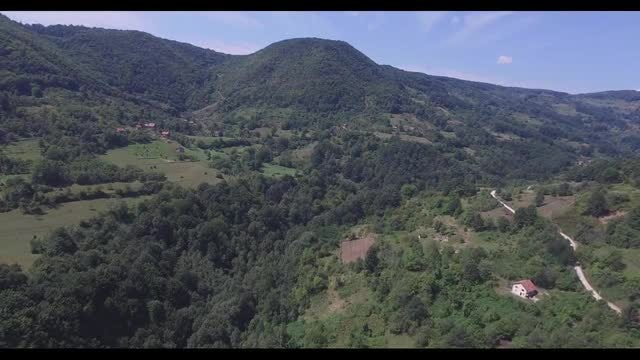 Countryside Aerial : Stock Video