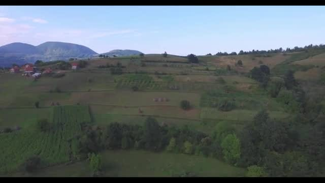 Aerial View Of Beautiful Countryside : Stock Video