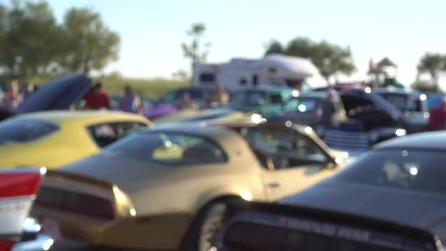 Sports Cars Auto Meetup: Stock Video