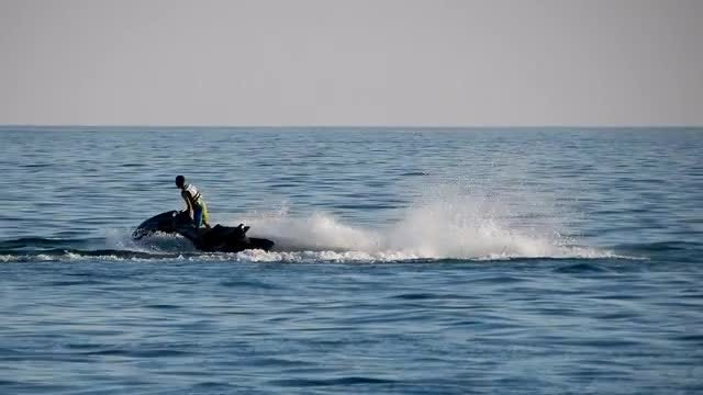 Man on Water Skidoo Sports: Stock Video