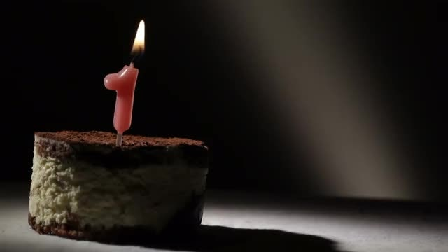 First Birthday Tiramisu Cake: Stock Video