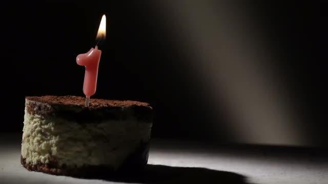First Birthday Tiramisu Cake: Stock Video