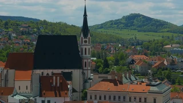 Medieval Town In Czech Republic: Stock Video
