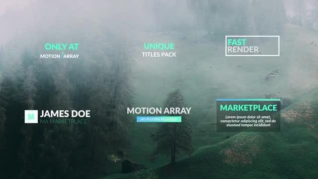 Unique Titles Pack: Premiere Pro Templates