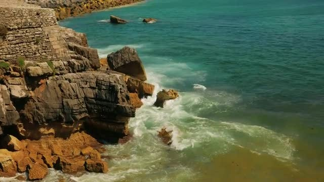 Beautiful Rugged Coast in the Mediterranean: Stock Video