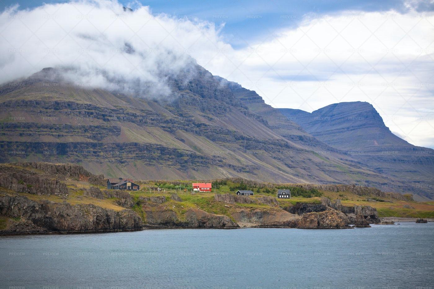 Houses In Mountains: Stock Photos