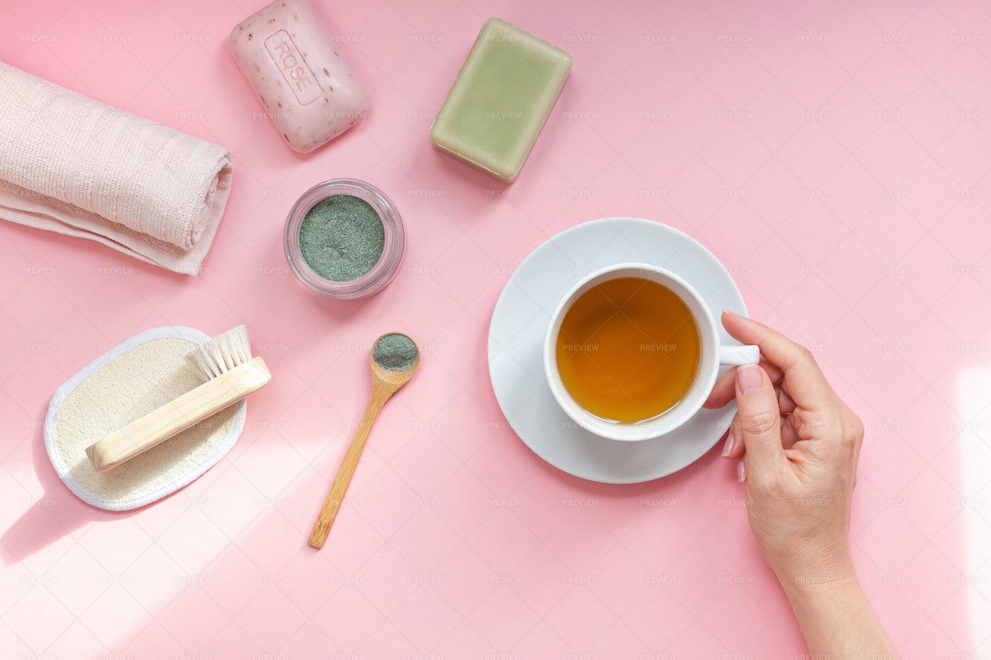 Tea And Body Care: Stock Photos
