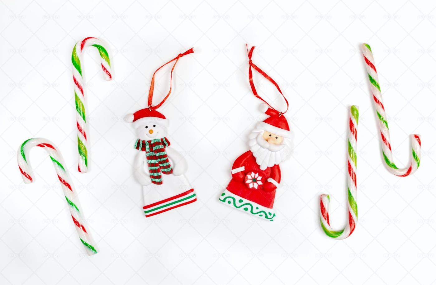 Christmas Composition With Xmas Tree Toy: Stock Photos