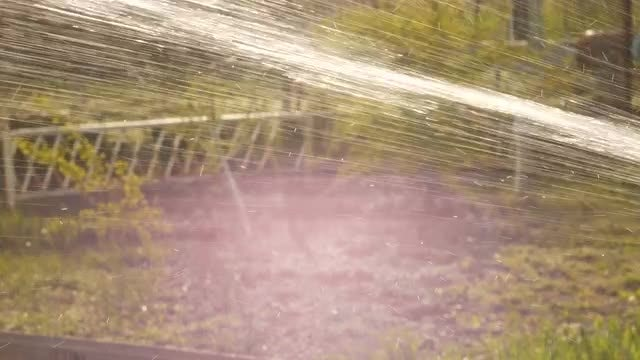 Running Water From Hose Pipe: Stock Video