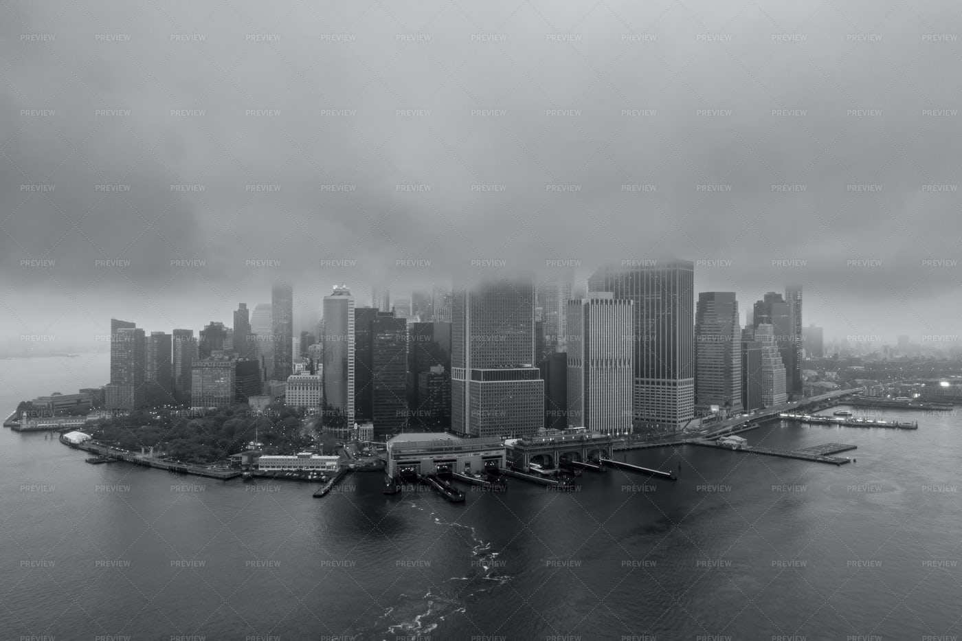Aerial View On Financial District: Stock Photos