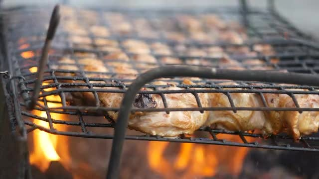 Delicious Barbecue Being Cooked: Stock Video
