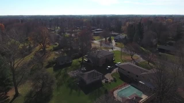 Flying Over Neighborhood Autumn: Stock Video