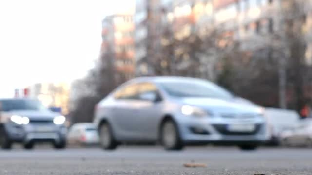 Blurred Shot Of Cars Moving: Stock Video