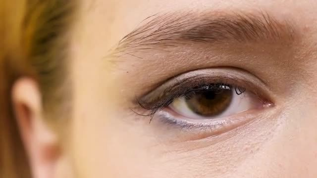 Close-up Shot Of Eye Blinking: Stock Video