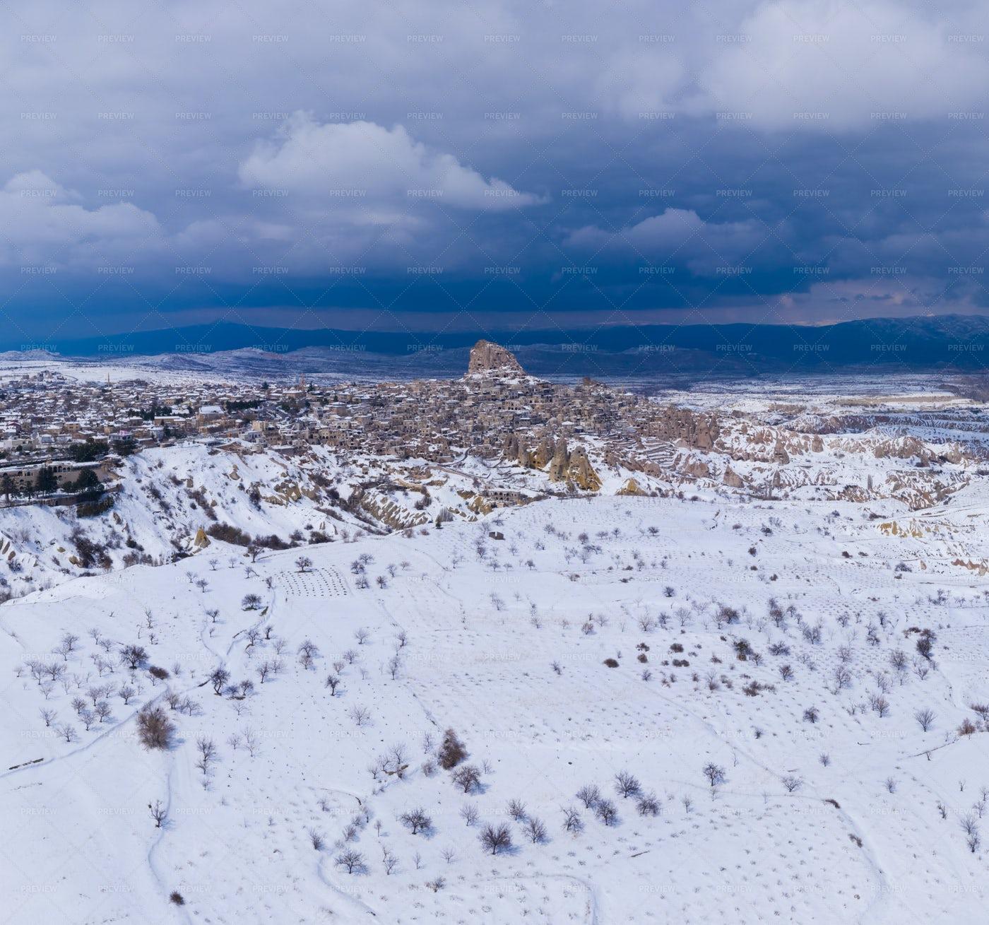 Cappadocia And Uchisar Cast: Stock Photos
