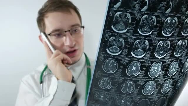 Angry Doctor Complaining About X-ray : Stock Video