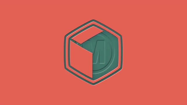 Short Shape Emboss Logo Reveal: After Effects Templates
