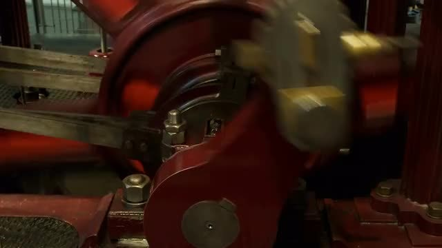 Industrial Steam Engine In Motion: Stock Video