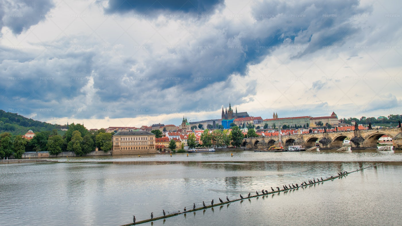 The Vltava In Prague: Stock Photos