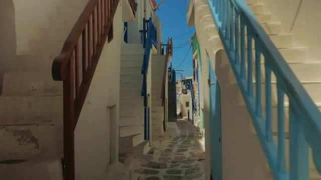 Traditional Cycladic Houses Of Mykonos: Stock Video