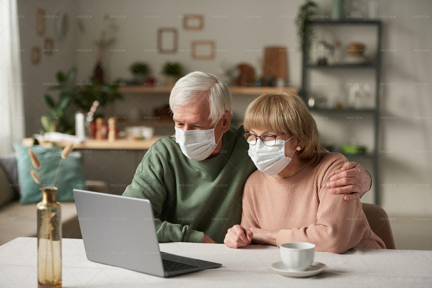 Online Conversation During Pandemic: Stock Photos