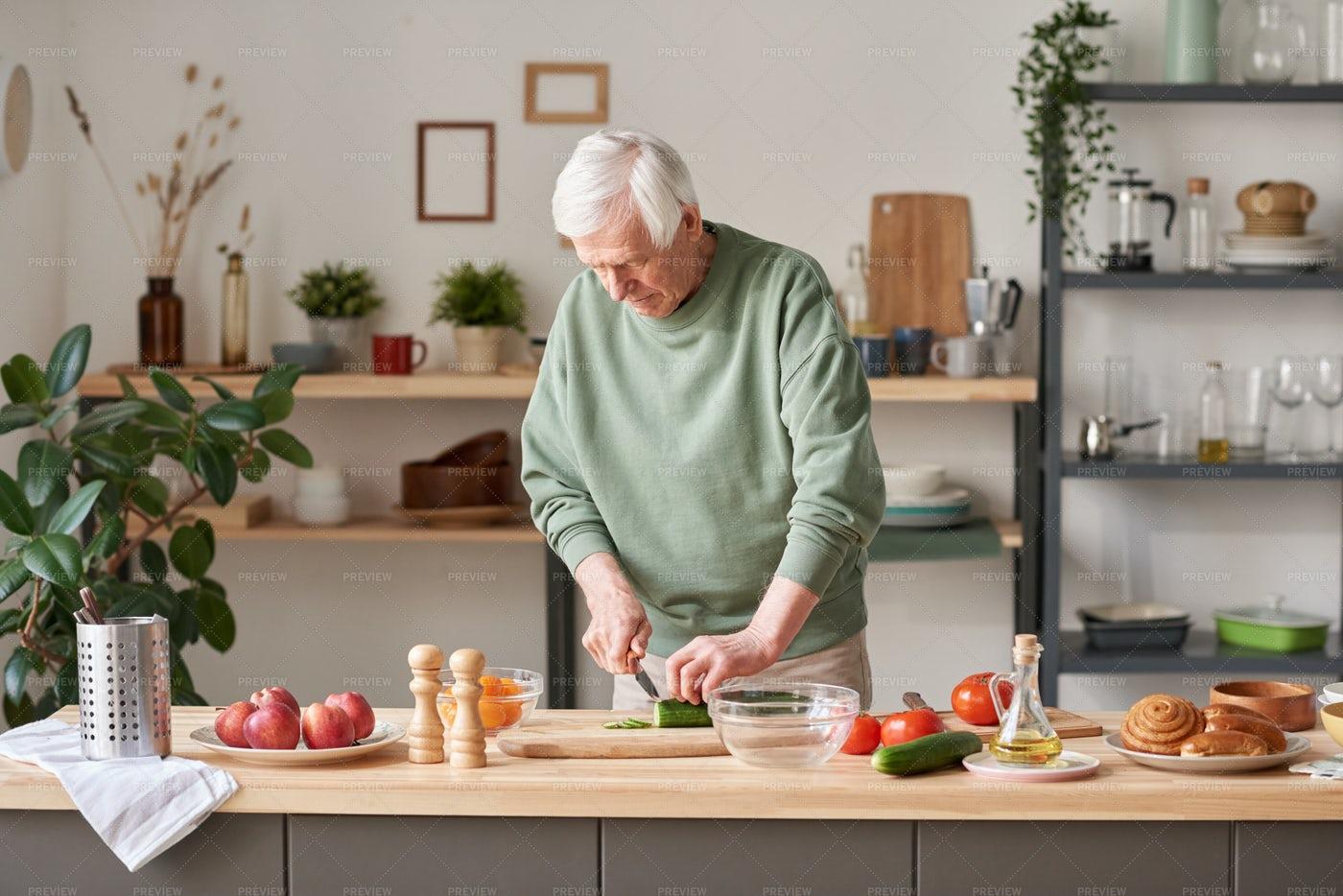 Man Preparing Food In The Kitchen: Stock Photos