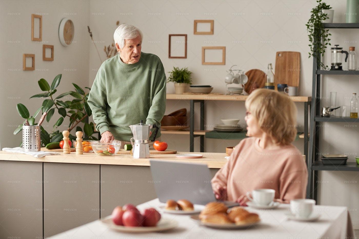 Elderly Couple At Home: Stock Photos