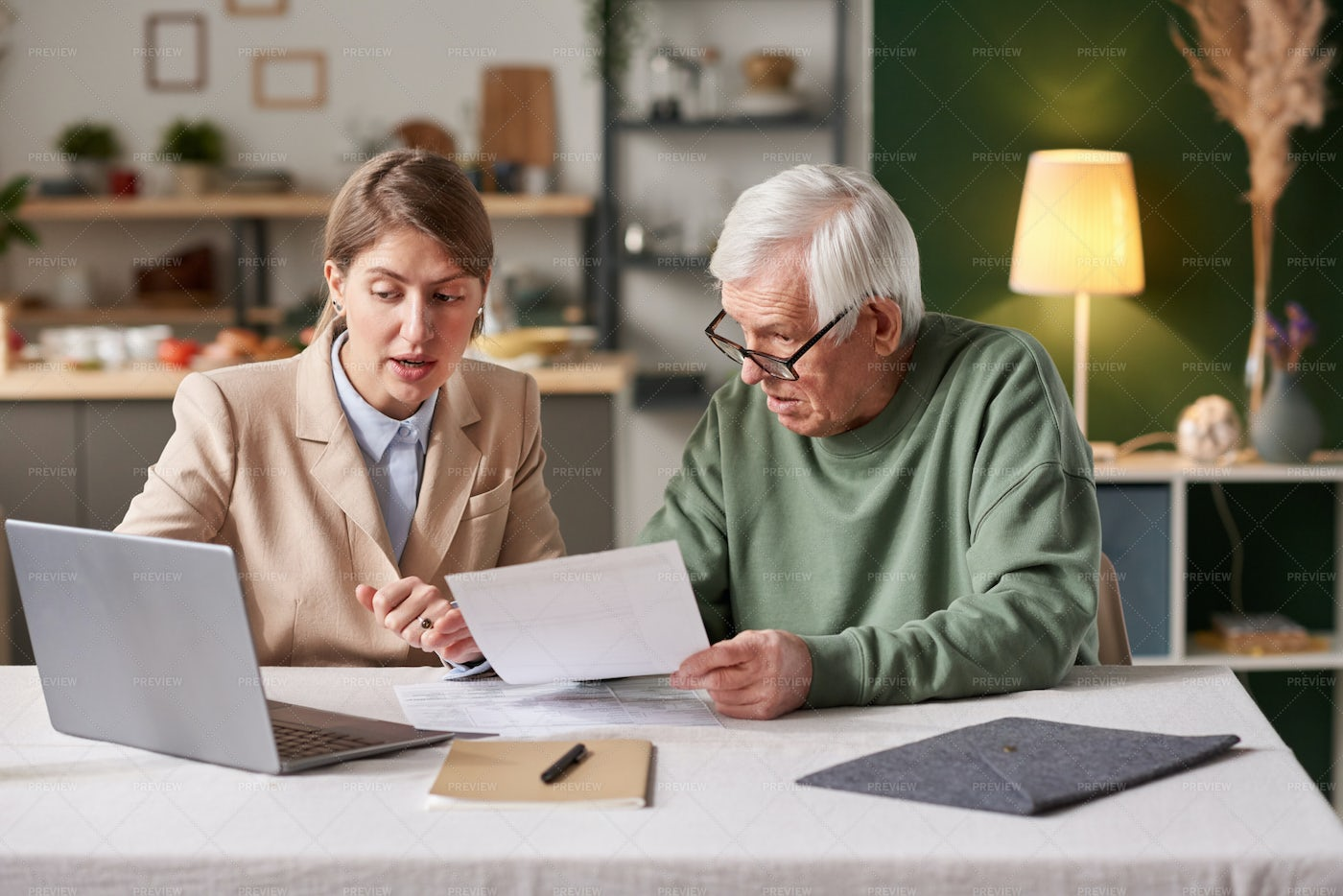 Financial Consultation With Woman: Stock Photos