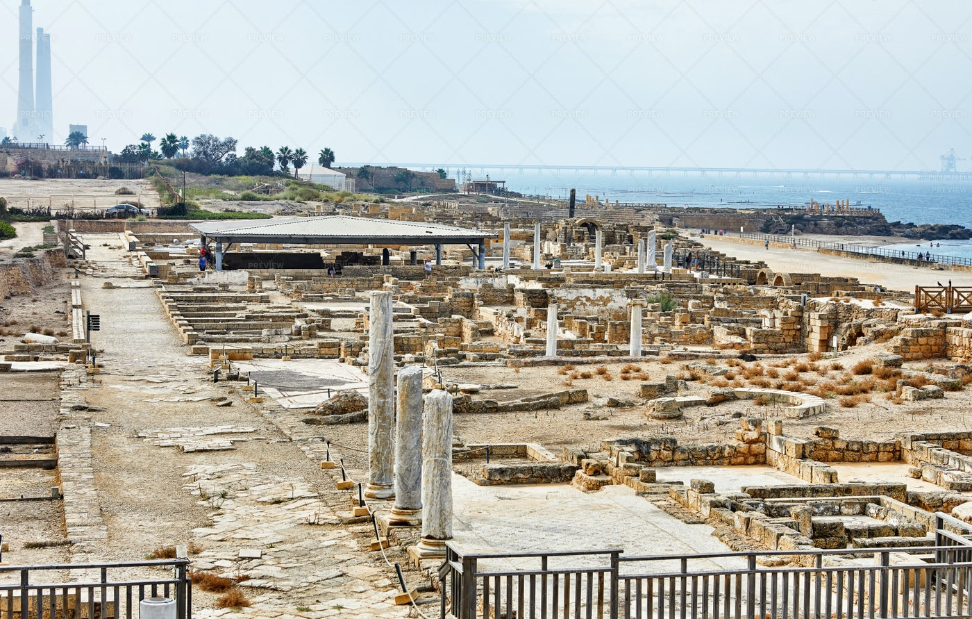 View Of Excavations Of Herod's Palace: Stock Photos