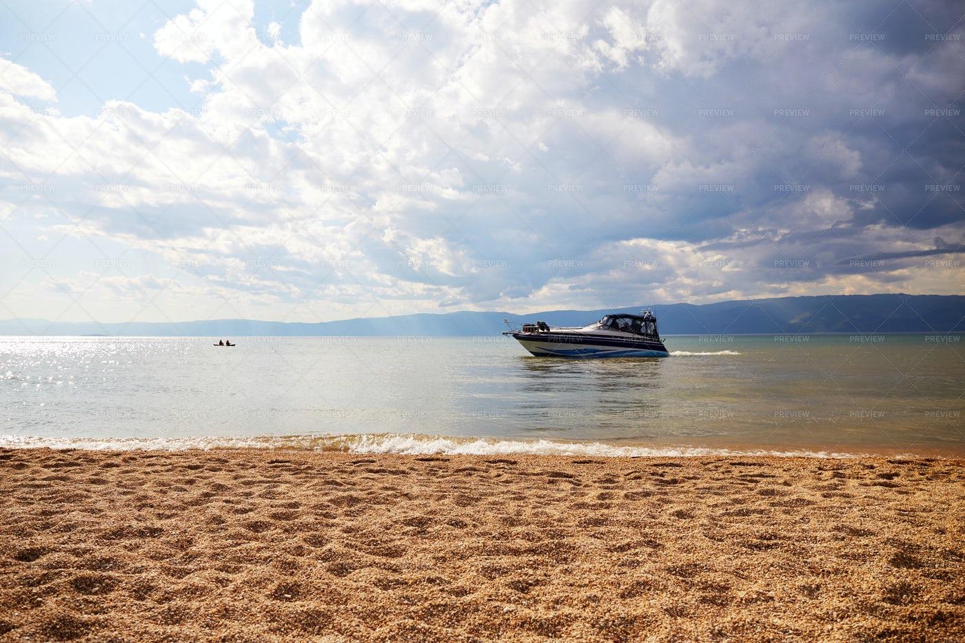 Yacht On Lake Baikal: Stock Photos
