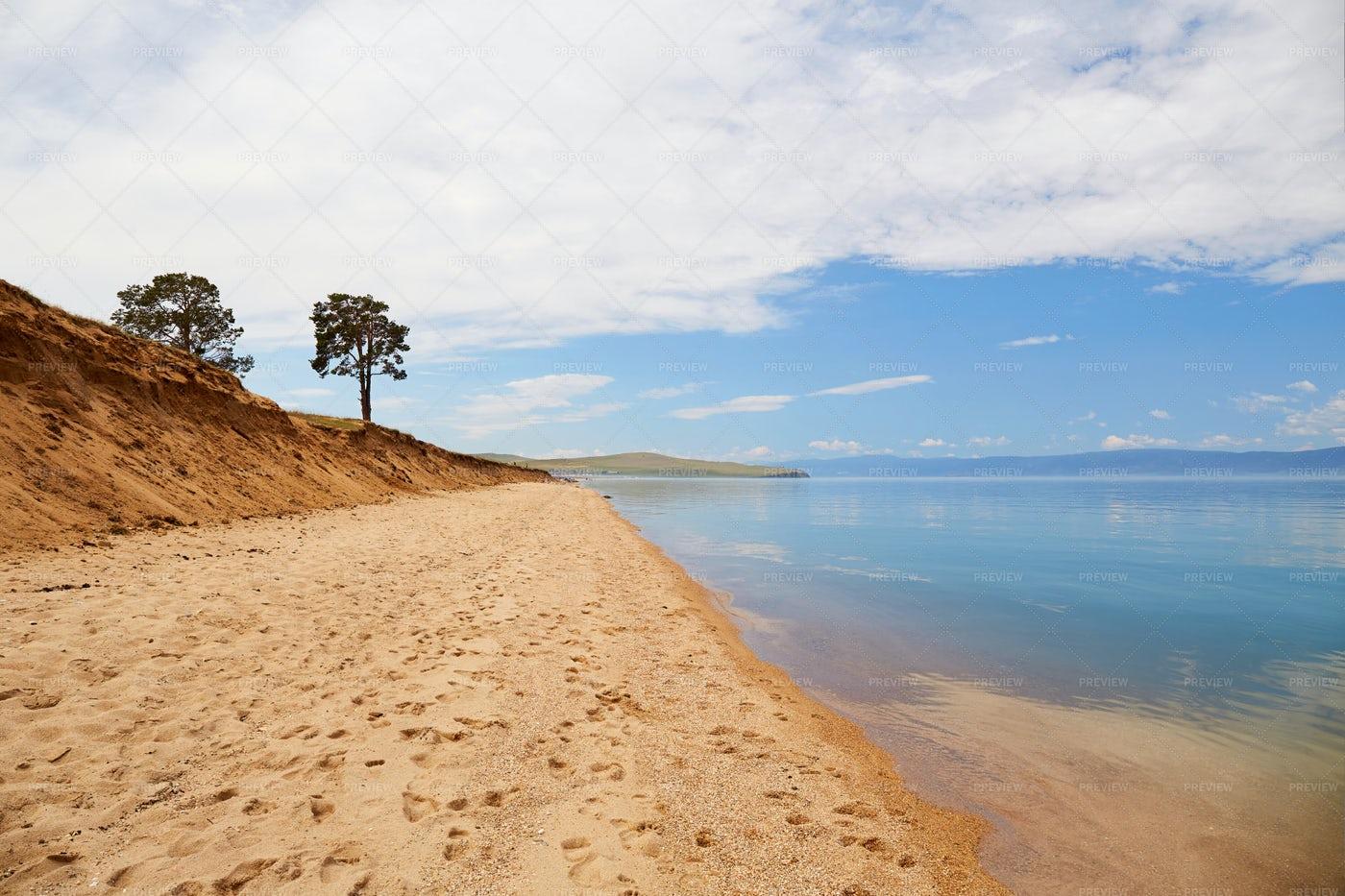 The Shore Of Lake Baikal: Stock Photos