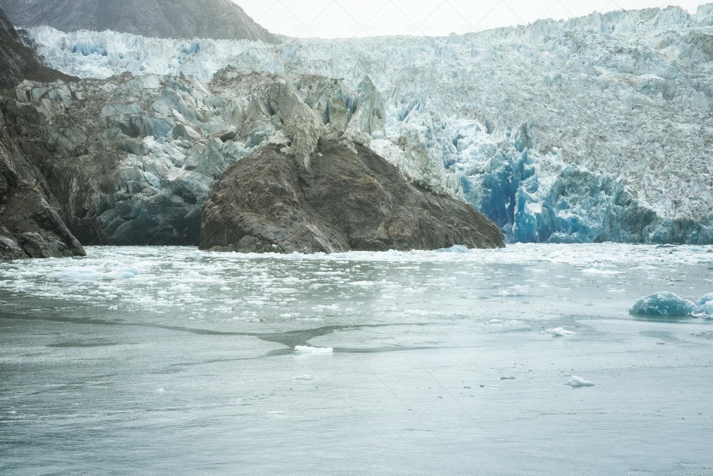 South Sawyer Glacier: Stock Photos
