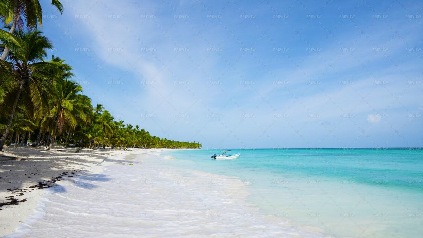 Endless Caribbean Beach: Stock Photos