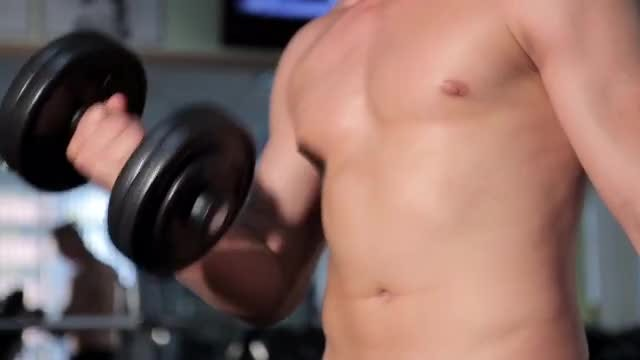 Men Exercising In The Gym: Stock Video