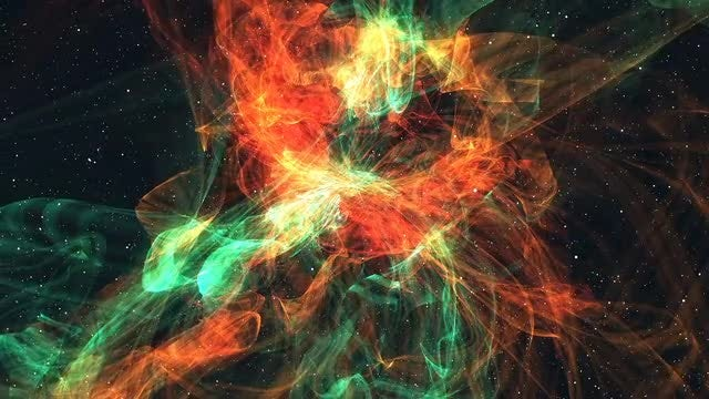 The Nebula In Warm Tones: Stock Motion Graphics