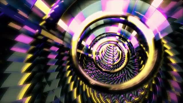 Textured Spiral Looped VJ Tunnel: Stock Motion Graphics