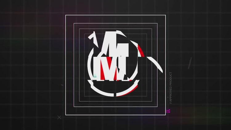 ED Glitch Shape Logo Reveal: After Effects Templates