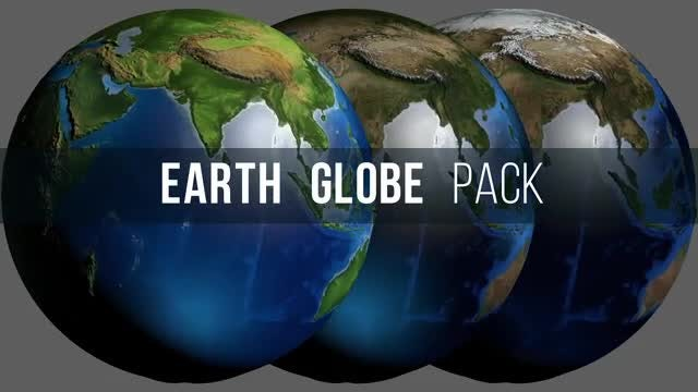 Globe Earth Pack: Stock Motion Graphics