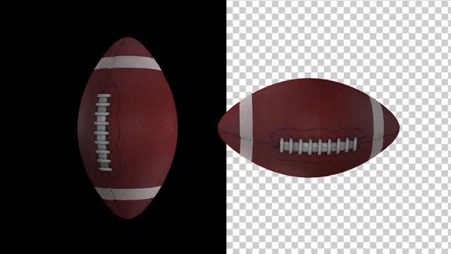 Rotating Footballs With Alpha Channel: Stock Motion Graphics