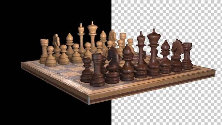 Spinning Chessboard With Alpha Channel: Stock Motion Graphics