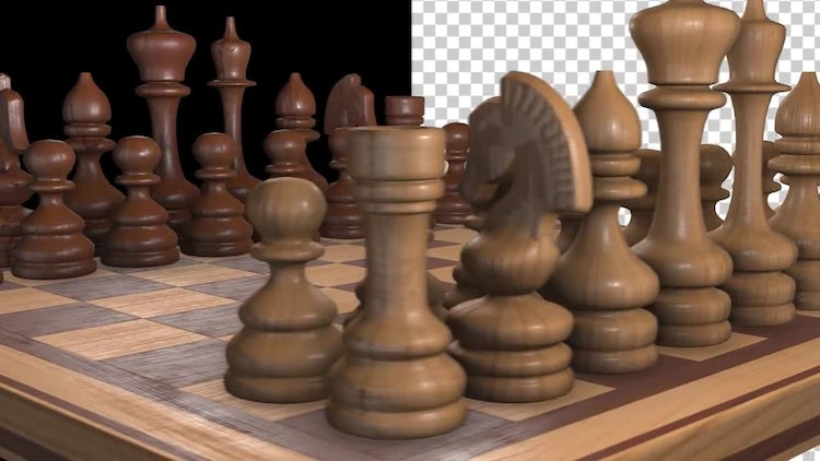 Spinning Chessboard On Closeup : Stock Motion Graphics