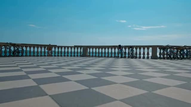 Terrazza Mascagni In Livorno, Italy: Stock Video