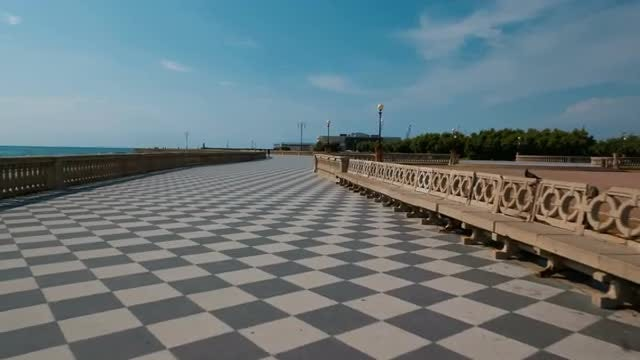 POV Of Terrazza Mascagni In Livorno, Italy: Stock Video