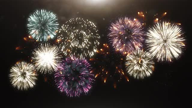 3D Animation Of Fireworks 99968